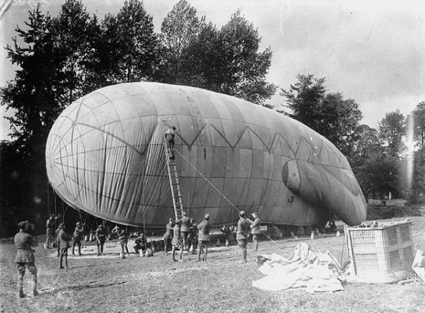 Kite Balloon Used by Aerial Observers to Gain Knowledge of Enemy
